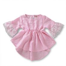 Baby Girl Pink High Low Schöne Spitze