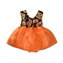 Vestido de Halloween con estampado de niña