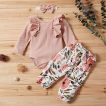 Baby Girl Blumendruck 3 PCS Herbst Set
