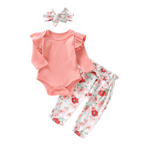 Baby Girl bloemenprint 3 PCS Fall Set