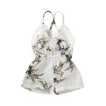 Mamelucos de verano para niña con estampado de flores