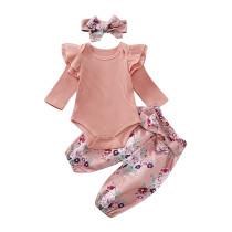 Conjunto de otoño 3 PCS Baby Girl Flower Print