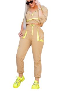 Sports Long Sleeve Contrast Sweat Suit
