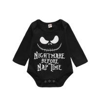 Baby Boy Print Halloween Langarm Strampler Strampler