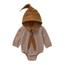 Baby-Streifen drucken Hoody Strampler