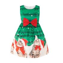 Детское новогоднее платье с поясом для девочек