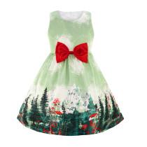 Винтажное платье без рукавов с принтом Kids Girl