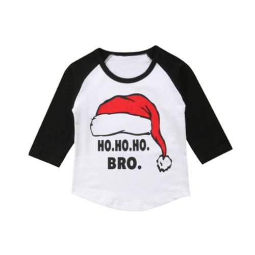 Kinder Boy Print Rundhals Weihnachten Shirt