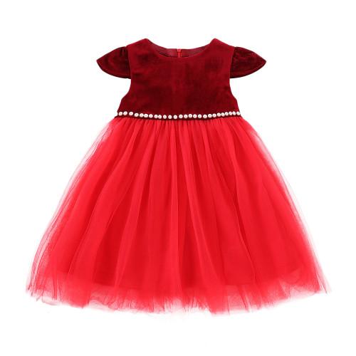 Детское платье без рукавов с бисером