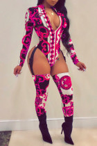 African Print Galter Body + Socken