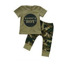 Set camicia e pantaloni estivi per bambini Camou Print