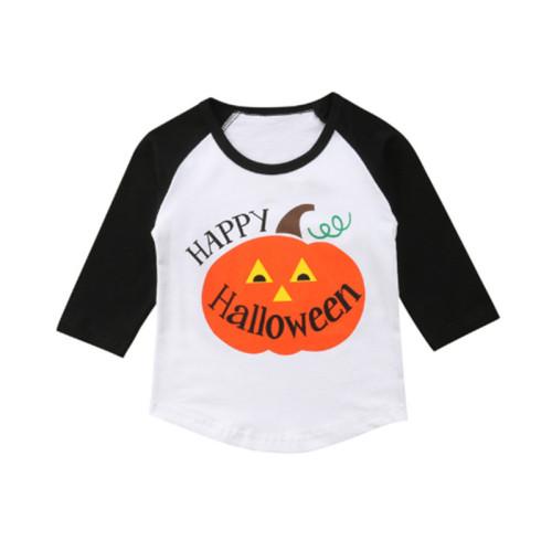 Kinder Unisex Print Rundhals Halloween Shirt