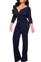 Sexy Sweetheart Plain Jumpsuit mit Gürtel