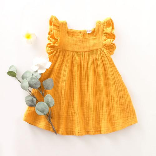 Kids Girl A-Line оборками желтое платье