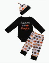 Juego de Halloween Baby Boy Print 3 PCS