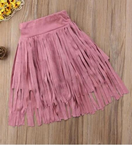 Falda de borlas de niña