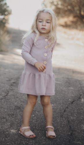 Платье-пуговица для девочек