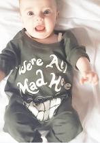 Baby Boy Fall Print Onesie Rompers