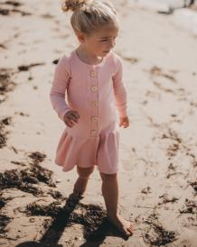 Vestito da ragazza abbottonata per bambini