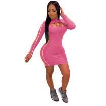 Sexy figurbetontes Kapuzen-Kleid