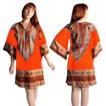 Afrikanisches Print Dashiki Shirt Kleid