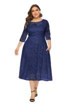 Кружевное платье А-силуэта большого размера