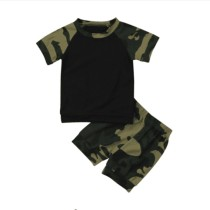Set camicia e pantaloncini estivi per bambini Camou Print