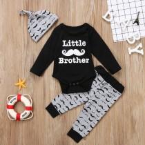 Set di pantaloni tre pezzi con stampa autunnale per neonato