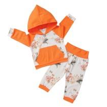 Kinder Mädchen Flower Print Hoody Sweatsuit