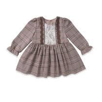 Винтажное платье в клетку для девочек