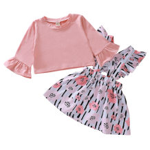 Kids Girl Two Piece Floral Dress
