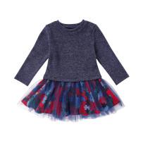 Осеннее платье для девочек Patchwok