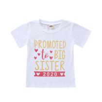 Camisa infantil de verão com estampado infantil menina