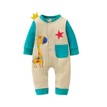 Baby Boy Winter Button Onesie Barboteuses