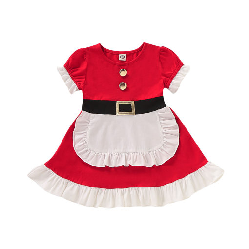 Kids Girl Christmas Frenchmaid-jurk