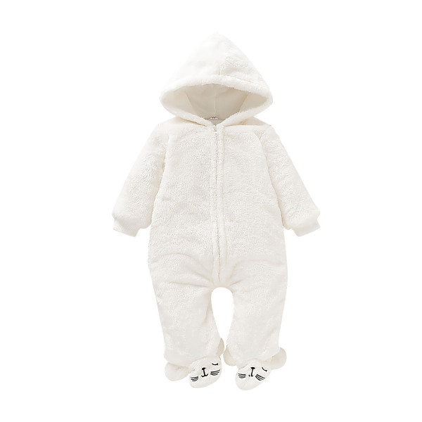Baby Girl Winter White Polar Onesie Rompers