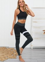 Contrast Tight Yoga Bra and Leggings
