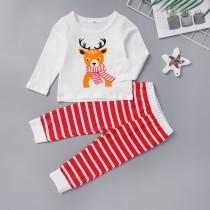 Çocuklar Kız Noel İki Adet Pijama