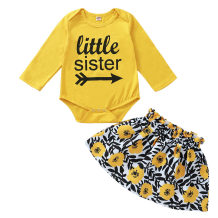 Baby Girl Cotton Two Piece Floral Skirt Set