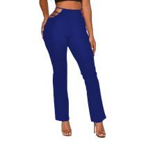 Pantalones de cintura alta con corte transparente