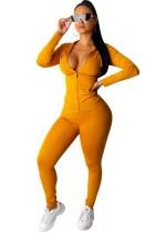 Sheer Fitness Zipper Hoody und Legging Set