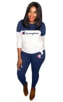 Print Contrast Fitness Shirt und Leggingset