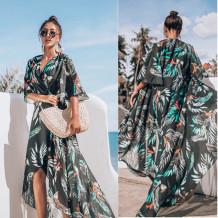 Imprimir Irregular Long Beach Dress