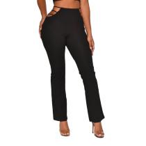 Calças de cintura alta com corte simples