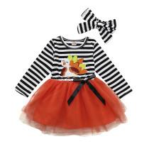 Детское платье на день рождения с повязкой на голову