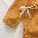 Kız bebek organik pamuk uzun kollu tulum
