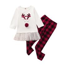 Çocuklar kız Noel pantolon seti