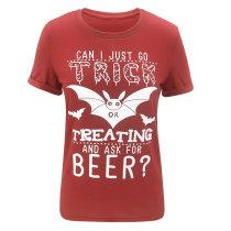 Halloween-shirt met rode print