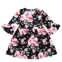 Платье для девочек с цветочным принтом A-Line