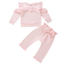 Kids Girl Two-Piece Ruffles Pants Set
